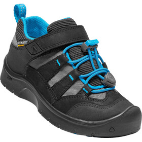 Keen Hikeport WP Shoes Kinder black/blue jewel